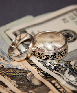 Combining Finances After Marriage - Rings + Money