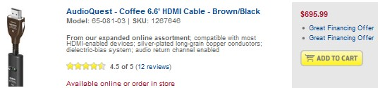 Best Buy Expensive HDMI Cable