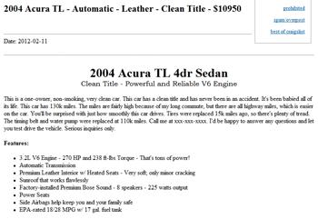 Best Craigslist Car Ad Posting Thumbnail