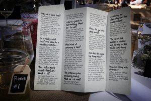 DIY Wedding Program Funny Humor