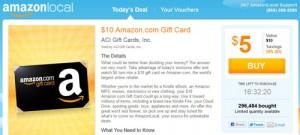 AmazonLocal - Amazon Local Gift Card Deal