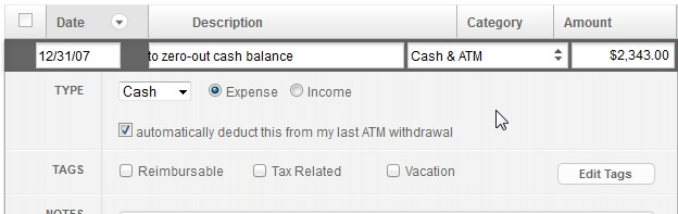 Getting Rid of Mint Cash Account