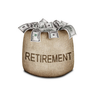Target-date retirement funds bag of money