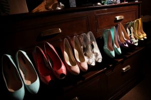 Wedding Bridesmaids Different Colored Shoes
